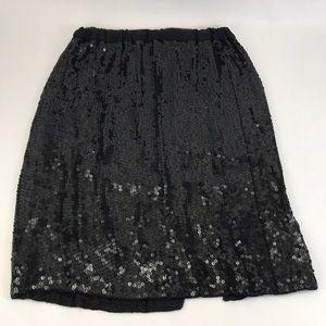 Vintage 90s Joseph Le Bon Sequined Silk Skirt